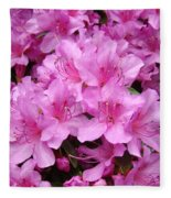 Pink Azaleas Summer Garden 6 Azalea Flowers Giclee Art Prints Baslee Troutman Fleece Blanket
