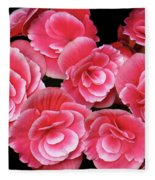 Pink Begonias Fleece Blanket