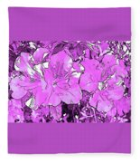 Pink Bevy Of Beauties On A Sunny Day In Violet Fleece Blanket