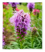 Purple Blazing Star 01 Fleece Blanket