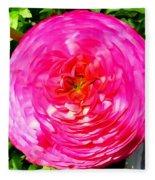Pink Bloom Fleece Blanket