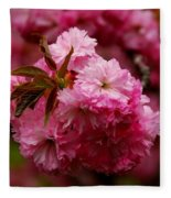 Pink Blooms Fleece Blanket