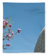 Pink Blossom And Glasshouse Fleece Blanket