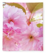 Pink Blossoms Art Prints Canvas Spring Tree Blossoms Baslee Troutman Fleece Blanket