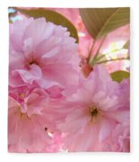 Pink Blossoms Art Prints Spring Tree Blossoms Baslee Troutman Fleece Blanket
