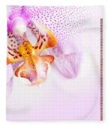 Pink Blotchy Orchid Calendar 2016 Fleece Blanket