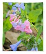 Pink Bluebells Fleece Blanket