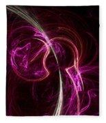Pink Blume Fleece Blanket