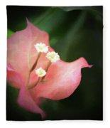 Pink Bougainvillea Fleece Blanket