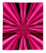 Pink Brocade Fabric Fractal 55 Fleece Blanket