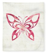 Pink Butterfly Fleece Blanket
