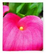 Pink Calla Lily Macro Flower Art Print Lilies Baslee Troutman Fleece Blanket