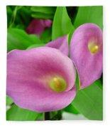 Pink Callas Fleece Blanket