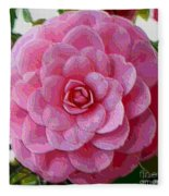 Pink Camellia Dream  Fleece Blanket