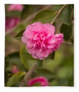 Pink Camellia 2 Fleece Blanket