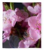 Pink Cherry Blossom Fleece Blanket