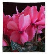 Pink Cyclamen  Fleece Blanket