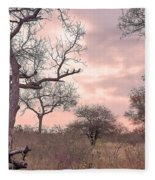 Pink Clouds Fleece Blanket