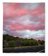 Pink Clouds Over Arizona Fleece Blanket