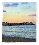 Pink Clouds Over Sicily Fleece Blanket