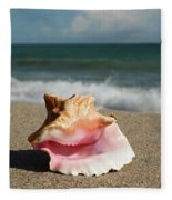 Pink Conch  Fleece Blanket