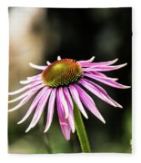 Pink Coneflower Fleece Blanket