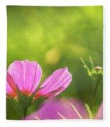 Pink Cosmos Fleece Blanket