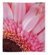 Pink Daisy Close-up Fleece Blanket
