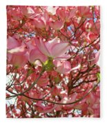 Pink Dogwood Flowering Tree Art Prints Canvas Baslee Troutman Fleece Blanket
