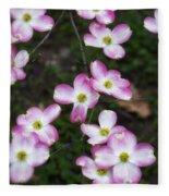 Pink Dogwood Mo Bot Garden Dsc01756 Fleece Blanket