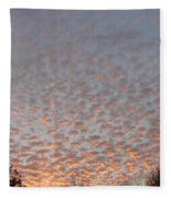 Pink Dotted Sky Fleece Blanket