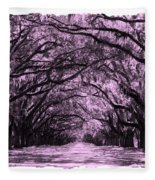 Pink Dream World With White Framing Fleece Blanket