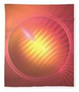 Pink Eclipse Fleece Blanket
