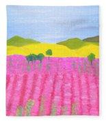 Pink Field Fleece Blanket