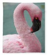 Pink Flamingo Profile 2 Fleece Blanket