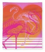 Pink Flamingos Fleece Blanket