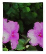 Pink Floral Watercolor Fleece Blanket