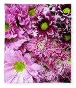 Pink Flower Carpet Fleece Blanket
