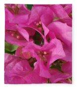 Pink Flower Composition Fleece Blanket