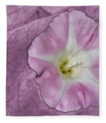 Pink Flower Fleece Blanket