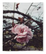 Pink Flower Fleece Blanket