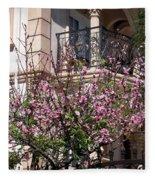 Pink Flower Tree. Elegant Fleece Blanket