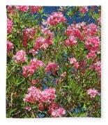Pink Flowering Shrub Fleece Blanket