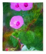 Pink Flowers 102310 Fleece Blanket