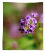 Pink Flowers . 40d4800 Fleece Blanket
