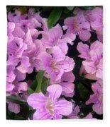 Pink Flowers. 6-22-17 Fleece Blanket