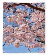 Pink Fluffy Branches Fleece Blanket