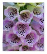 Pink Foxglove  Fleece Blanket