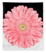 Pink Gerbera Fleece Blanket