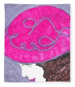Pink Hat Fleece Blanket